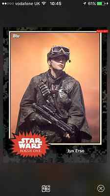 Topps Card Trader Star Wars - Black Friday limited Jyn Erso (1,652)