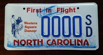 WESTERN SQUARE DANCE North Carolina NC License Plate Vintage Specialty NOS MINT!