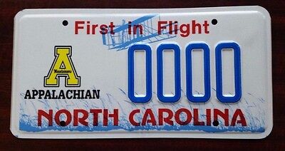 APPALACHIAN MOUNTAINEERS North Carolina NC License Plate Vintage Specialty MINT!