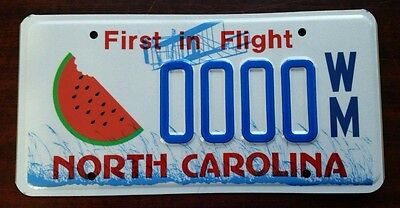 Watermelon North Carolina NC License Plate Vintage Specialty Graphic NOS MINT!