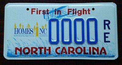 """North Carolina """"HOMES4NC"""" NCAR Housing Opportunity Graphic License Plate SAMPLE"""
