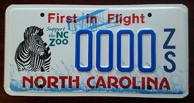 ZOO WILDLIFE North Carolina NC License Plate Vintage Specialty Graphic NOS MINT!