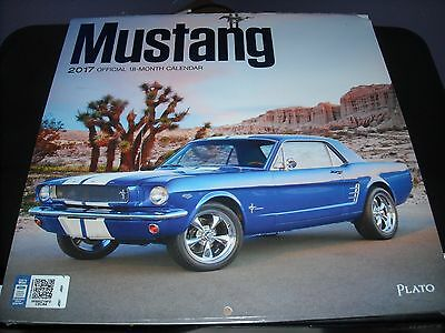 Official 2017 Ford Mustang 18 Month Wall Calendar New Stang Boss Shelby Mach