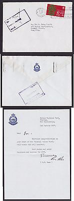 GB Hong Kong China 1974 Police Letter from Tactical Unit Fanling PH Box Receiver