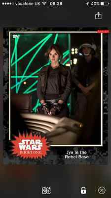 Topps Card Trader Star Wars - Black Friday award Jyn in the rebel base (404)