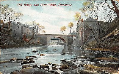 BR61822 old bridge and river allan  dunblane scotland