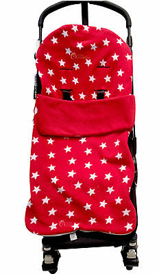 Snuggle Buggy Footmuff / Cosy Toes Cosy Toes Fit Buggy Pushchair Baby Red Star