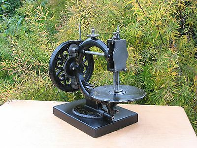 Antique 1870s Little Wanzer Time Utilizer Sewing Machine on black Marble Base