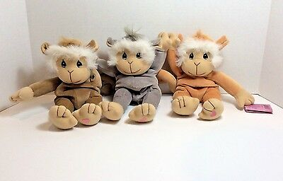Precious Moments Tender Tails Limited Edition Monkey Set 1998 velcro hands