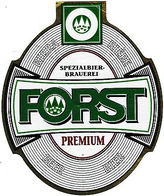 ITALY FORST Bry - PREMIUM - Large Oval Beer Label