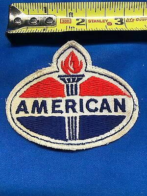 Vintage American Oil Gas Service Station Uniform Shirt Embroidered Patch