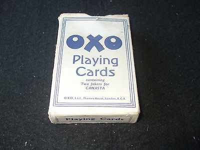 Vintage Universal Bridge Size Boxed OXO Promotional Playing Cards
