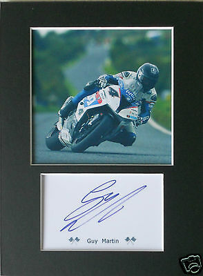 Guy Martin TT signed mounted autograph 8x6 photo print display   #A5