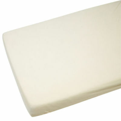 Cot Bed 100% Cotton Jersey Fitted Sheet Cream 140 x 70 cm