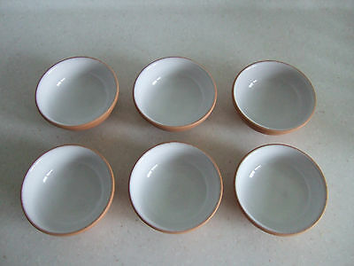 TERRACOTTA TOSCANA DIPS/H'ORDERVE DISHES 9.5cm diameter X 6 (See description)