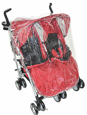 Raincover Compatible With Maclaren Twin Techno Double Pushchair (213)
