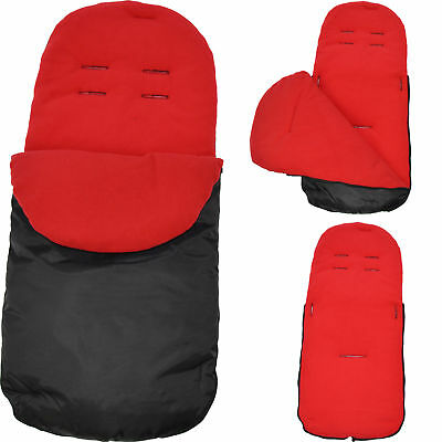 Footmuff / Cosy Toes Compatible with Maclaren Techno XT/ Quest / XLR / Volo Red