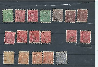 Australia stamps. GV George V used lot Crown over A watermark (Y020)