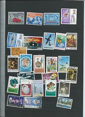 Grenada stamps. Stock page of mainly MH (Y087)