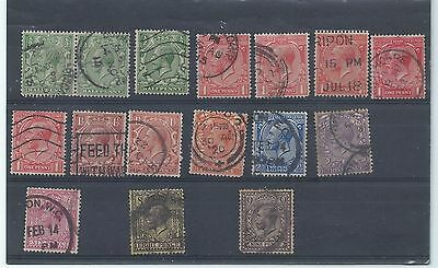 GB stamps. George V used lot - 9d with faults. (V271)