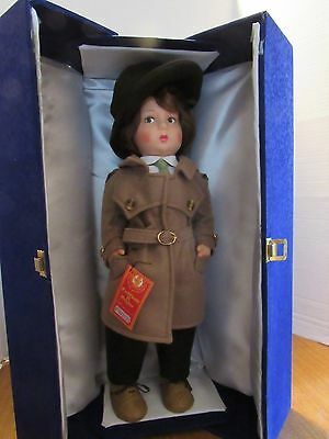 "Lenci 19"" Felt Boy Doll Torino Italy So Handsome W/ Case 1983"