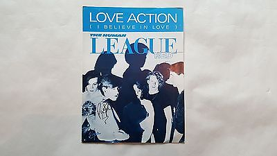HUMAN LEAGUE Love Action UK A4 sized sheet music – autographed on the front