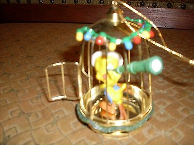 """Tweety Bird """"Looking Out for Santa"""" ornament"""