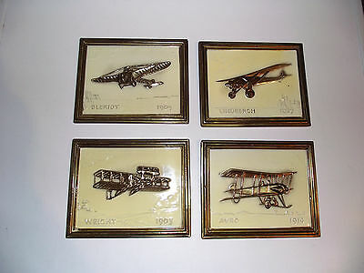 Vintage Aeroplane Wall Plaques,excellent.