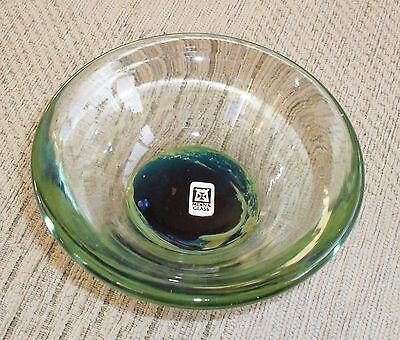 Lovely Vintage Mdina Glass Dish With Label