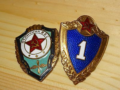 Ussr Heavy Enamel Badges First Class/ Excellency. Brass/ Early Issues