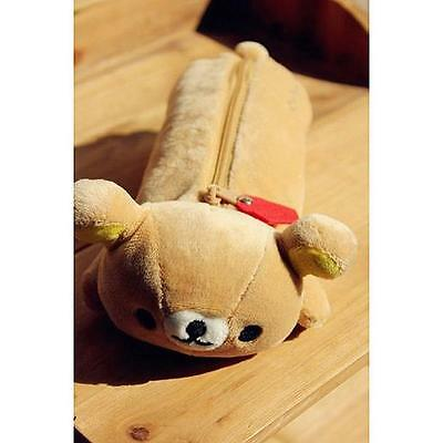 "Adorable San-x Yellow Rilakkuma Bear Pencil Pen Case Stationery 11"" Brand New に"