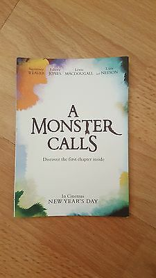 A Monster Calls (2016) Film Movie Promo Foldout Flyer - Liam Neeson