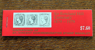 St Vincent 1979 Rowland Hill $7.60 Booklet – Only Source of Se-Tenant Pairs (J1)