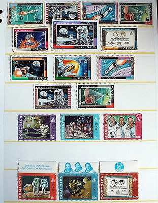 Space Stamps – Grenada & Dominica Sets – Includes Overprints (R3-E)