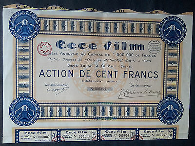 1lot  2   S.A.   ECCE   FILM   CLICHY Action 100 FR + coupons