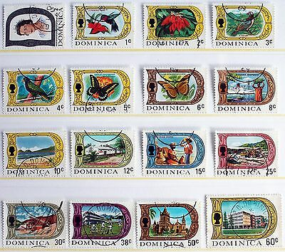 Dominica 1969 Definitive Set of 16 – to 60c – Superb Used (R3-E)