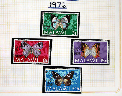 Butterfly Stamps of Malawi  - 1973 Set - Unmounted (Se1)