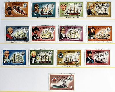 Antigua 1970 Definitive Set of Ships to 50c – Superb Used (R3-E)