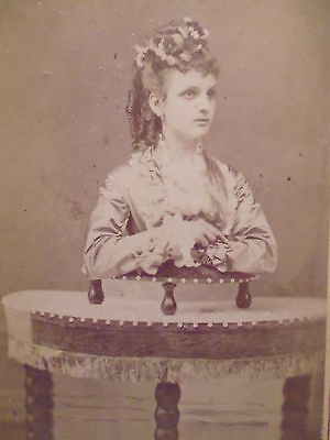 CDV Unusual Trick Photograph Retouched Upper Body of a Lady