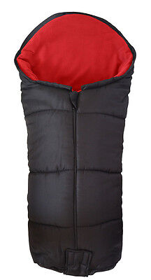 Deluxe Footmuff / Cosy Toes Compatible with Quinny Moodd Pushchair Red