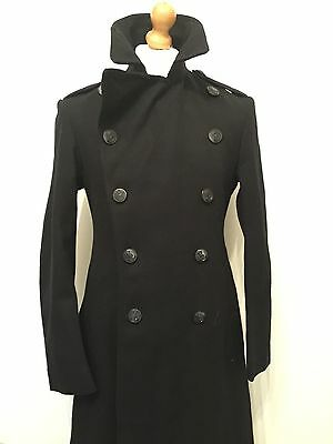 Mens Vintage Naval Ratings Greatcoat Peacoat Size 38