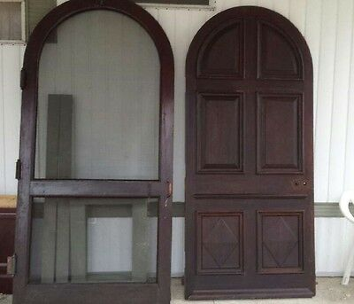 6 Panel Antique Arched Door And Screen