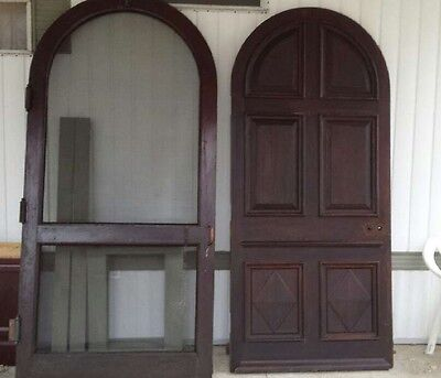 Antique Arched Door And Screen