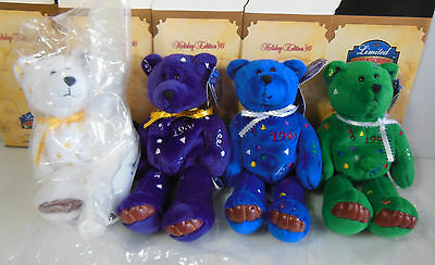 Limited Treasures Holiday Edition 1999 Beanie Bears, Very Rare, Set Of 4, Nwt