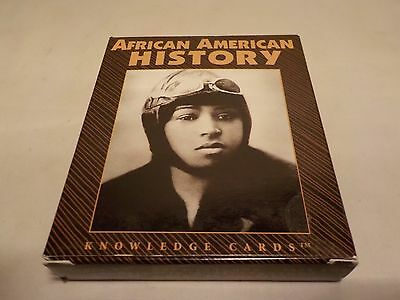 African American History Knowledge Cards Box Set Bessie Coleman 48 Profiles