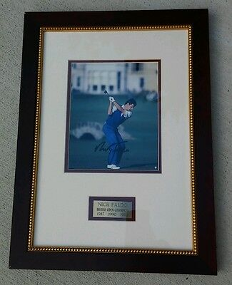 Signed and certified Nick Faldo professional golf picture. 100% authentic!