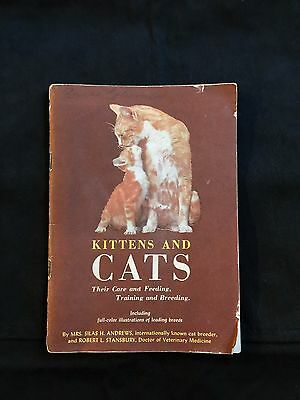 Vintage KITTENS and CATS Care Training Book By PUSS'N BOOTS Cat Food 1954