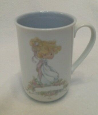 Precious Moments 1989 blank for personalization  Coffee Mug Proverbs 22:1