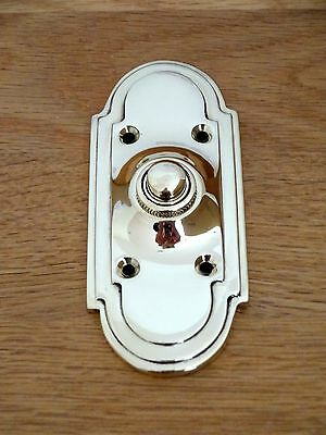 Large Brass  Art Deco Style Door Bell Push Doorbell Knocker