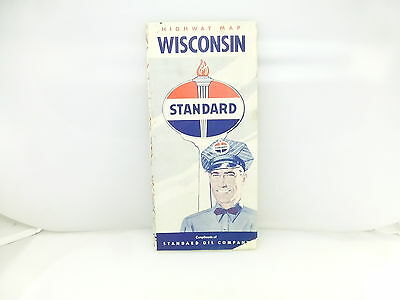 Vintage Standard Oil Company Advertising Wisconsin Highway Map
